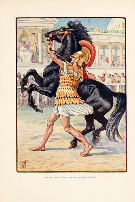 Alexander the Grate with Bucephalus