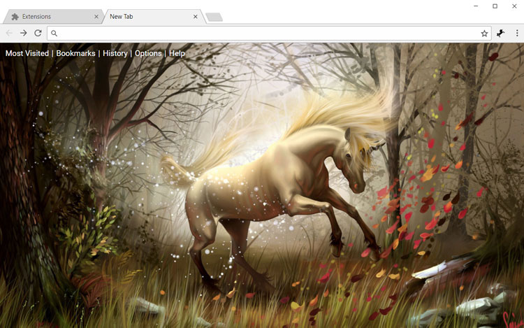 Unicorn in the forest